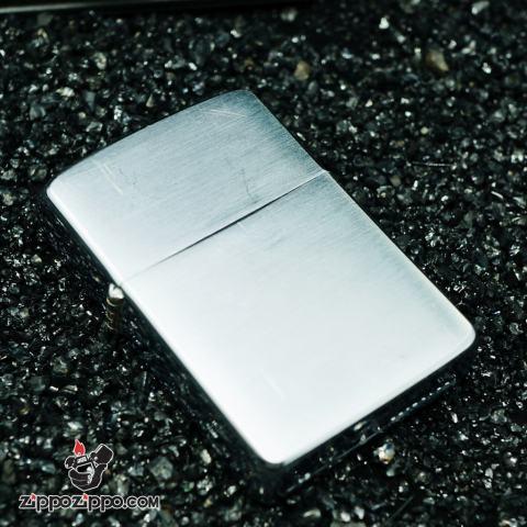 Zippo cổ chrome bạc xước sản xuất 1963
