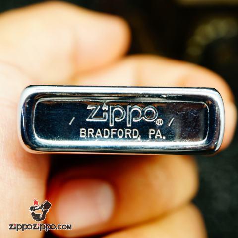 Zippo cổ chrome bạc xước1980