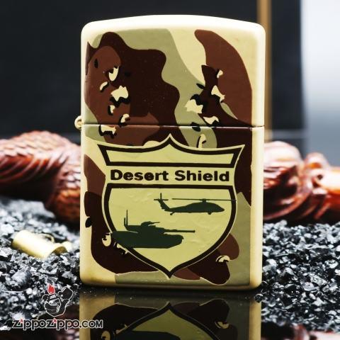 Zippo cổ dàn ri Desert Shield 1989