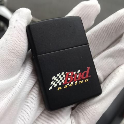 Zippo Cổ Đen sơn hãng bia Bud Racing sản xuất 1997