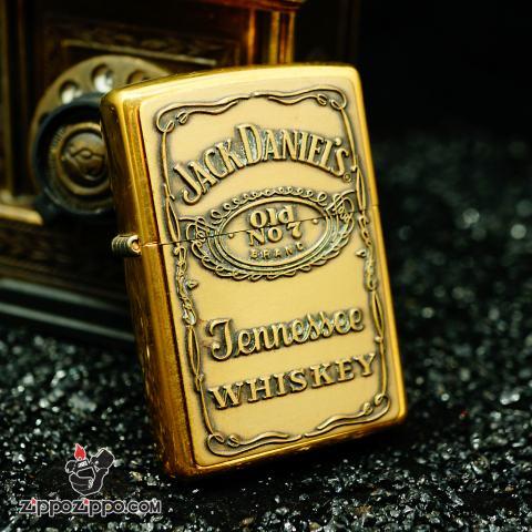 Zippo cổ đồng khắc nổi Jack Daniel's sản xuất năm XVI-2000