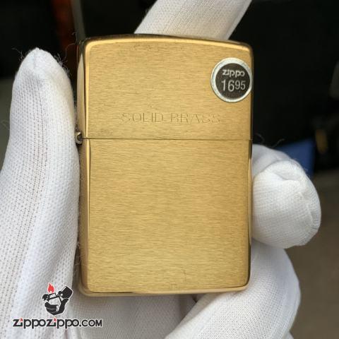 Zippo Cổ đồng xước Solid Brass sản xuất 1995