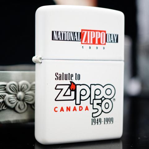 Zippo Cổ màu trắng bản Kỷ Niệm 1949-1999