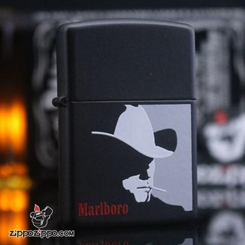 Zippo đời la mã sản xuất 1997 đen Marlboro