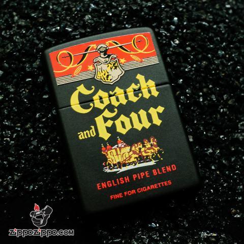 Zippo đời la mã sản xuất 2000 Coach & Four