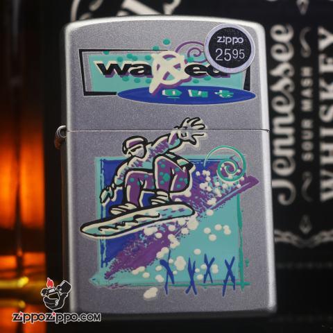 Zippo đời la mã sản xuất 2000 màu bạc waxed out