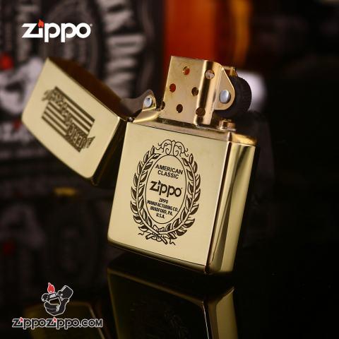 Zippo Đồng Nguyên Khối Khắc AMERICAN CLASSIC Ver.6