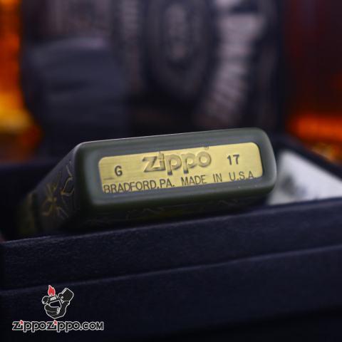 Zippo in hình lá cần xanh bộ đội