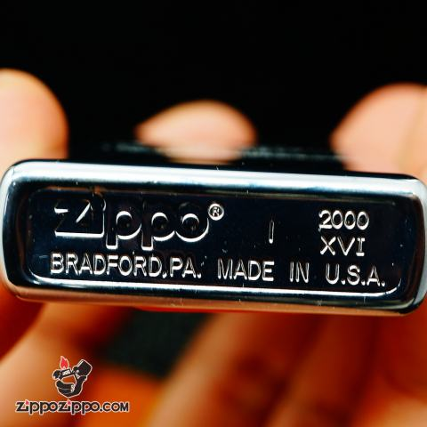 Zippo La mã bạc bóng khắc chữ New Orleans