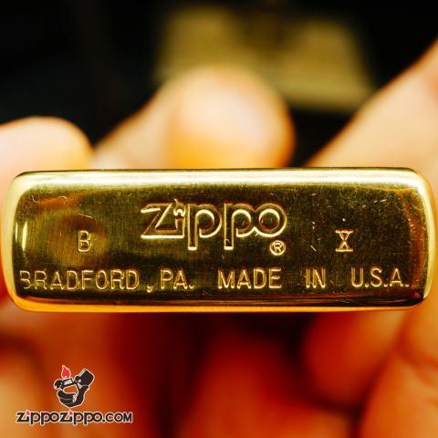 Zippo La mã đồng bóng solid brass P&O Fairstar sản xuất 1994