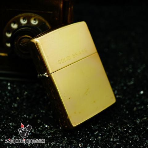 Zippo La mã đồng bóng solid brass sản xuất năm 1994