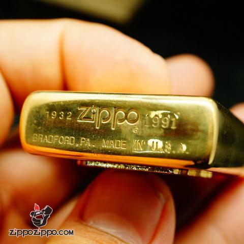 Zippo La mã đồng bóng solid brass1932-1991