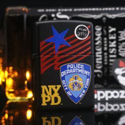 Zippo matte black sx năm 2003 huy hiệu cảnh sát New York - Mã SP: ZPC2211-4
